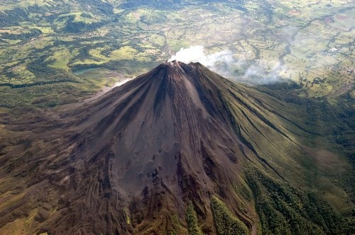 Arenal Volcano from the air!!! Costa Rica