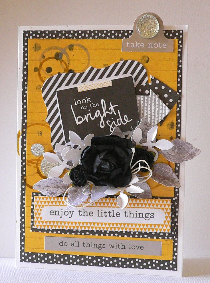 'Enjoy the little Things' card by Adriana Bolzon [using Kaisercraft 'Shine Bright' collection] ~ Cards 1.