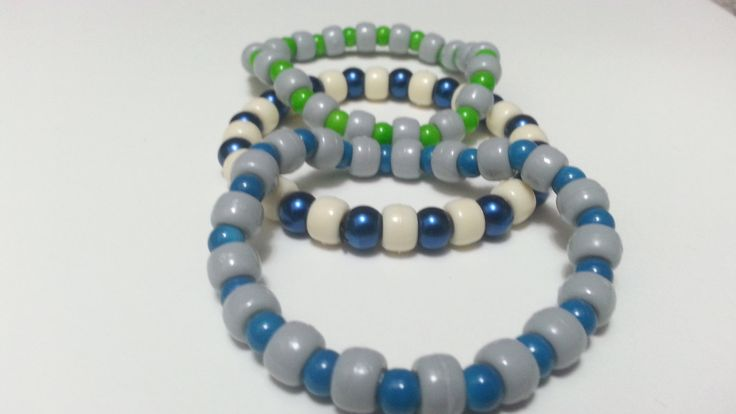 Bracelets Unisex Bracelet Pony Bead Bracelet by LydiasTreasures4u, $8.00