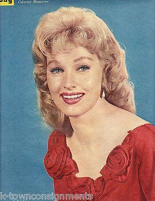 ANDY GRIFFITH KAREN STEELE VINTAGE SUNDAY NEW YORK NEWS MAGAZINE 1960