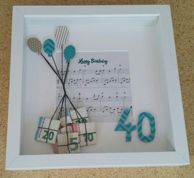 Geschenk Zum 40 Geburtstag J T Diy Ideen Geschenke