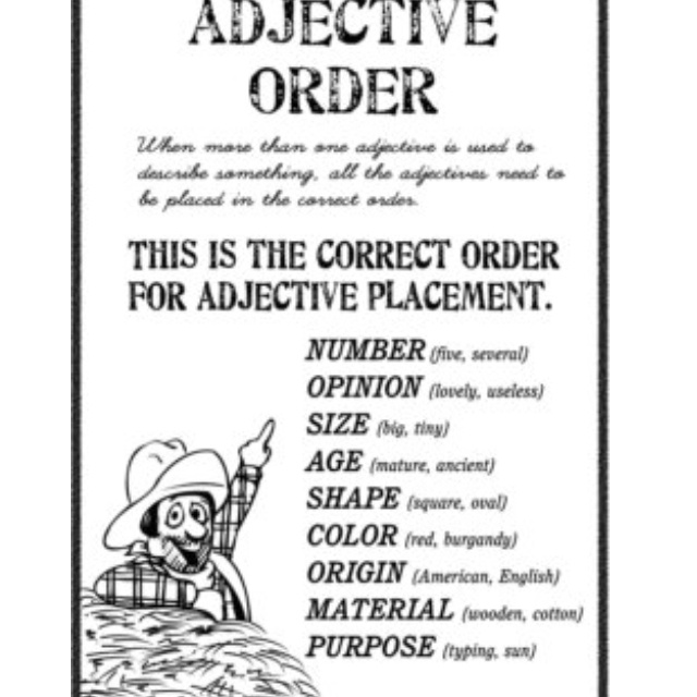 1000+ images about Ordering adjectives on Pinterest | 10 ...