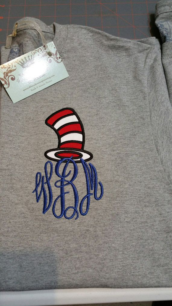 Dr Seuss themed shirt Dr Seuss Shirt by QueenofThreads81 on Etsy