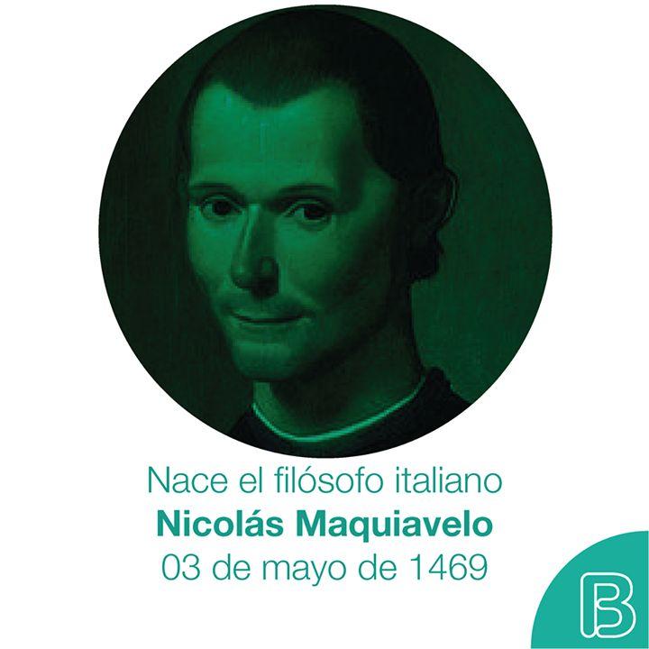 """Hoy se conmemora el nacimiento del escritor y filósofo italiano Nicolás Maquiavelo reconocido por obras como """"El Príncipe"""" quien llegó a nuestro mundo tal día como hoy del año 1469. bookolica.com"""