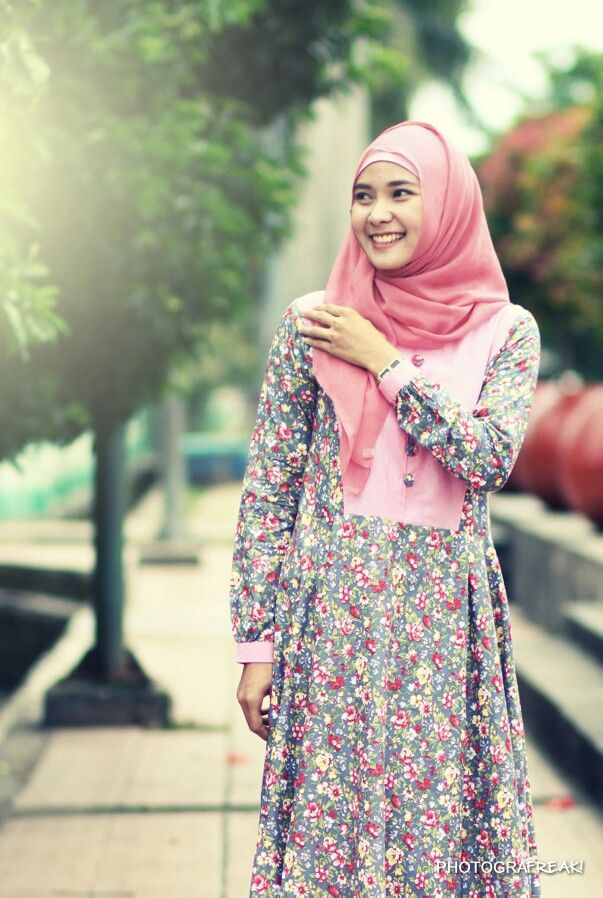Young, pretty, hijab