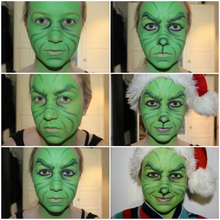 Grinch facepaint face painting ideas pinterest