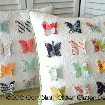 Chitter Chatter\u0027s new pattern All A Flutter pillow - pattern for purchase & 681 best Pillow Talk images on Pinterest   Pillow talk Cushions ... pillowsntoast.com