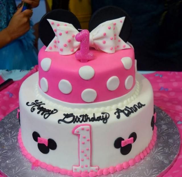 Best Number  Cake Sherwin Images On Pinterest Birthday Ideas - 1st birthday cake girl