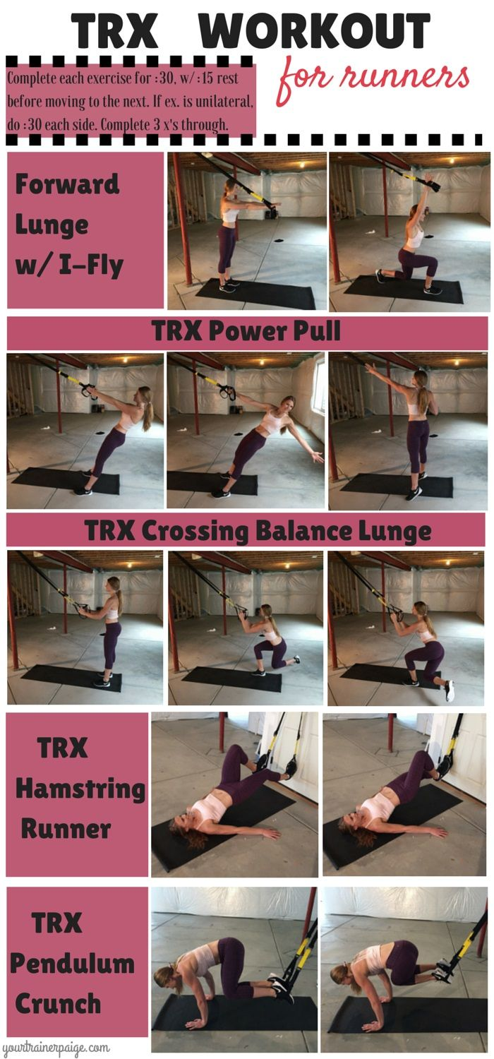 TRX Workout for Runners - click for details on this body weight workout to prevent injuries and improve your speed
