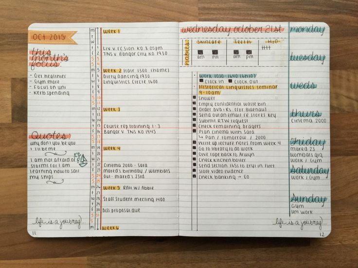 This weekly school spread is perfect for tracking a course at a high level and tracking all your to-do's!
