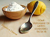 Lievito istantaneo fai da te (per dolci) | Zenzero e Limone