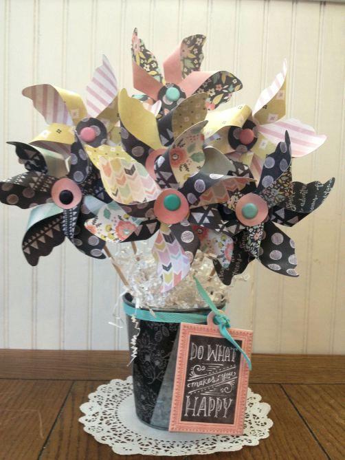 Adorable pinwheels. #wermemorykeepers #papercrafts #crafts