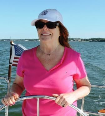 REUNION SAIL - Pam Brogan took her college classmate from years ago sailing on the York River in a brisk springtime wind. They had a fabulous time.
