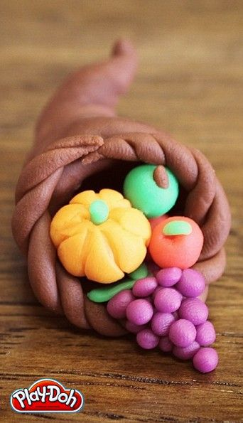 playdoh cornucopia because i totally would make this as a kid....Happy Thanksgiving! - Play-Doh #ad