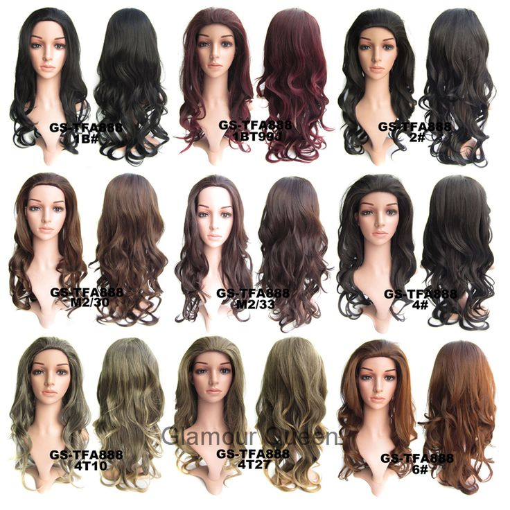 "3/4 Half Wigs High Resistance Synthetic Fibre Full Long Curly Wavy European Trend Hairpiece 17 Colors Available,1pc,24"",200g"