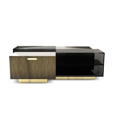 Cubicle Center table was inspired by Robert Propst 1967's creation, the Action Office, commonly knowned as cubicles.
