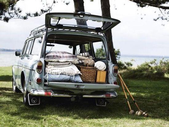 vintage Volvo wagon.