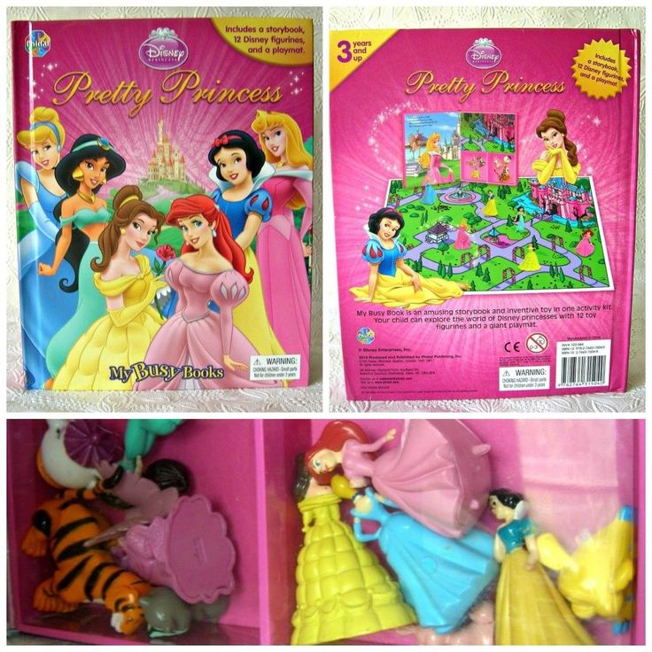 Disney Pretty Princess My Busy Books With 12 Figurines And