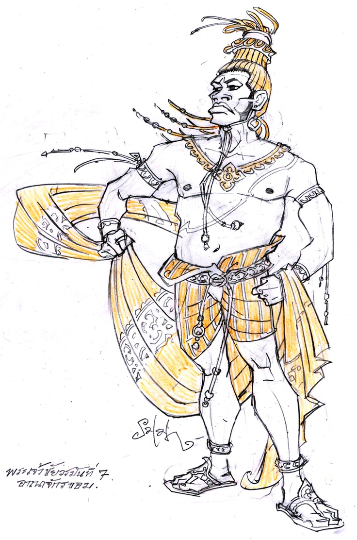 พระเจ้าชัยวรมันที่ 7เป็นกษัตริย์ของอาณาจักรเขมรที่ยิ่งใหญ่