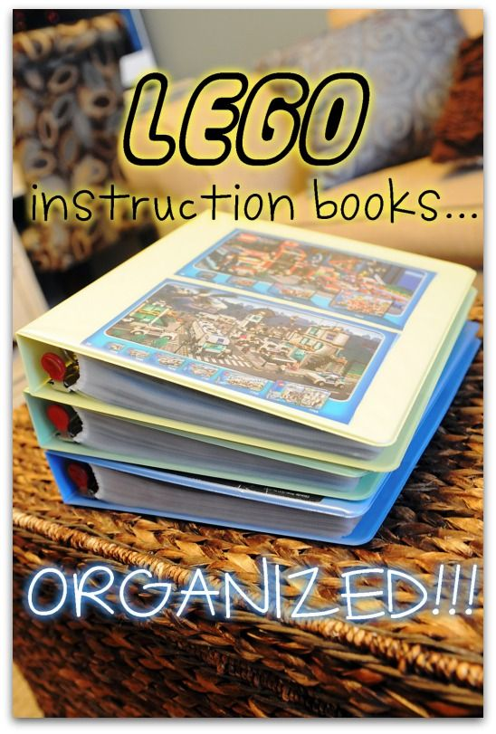 lego instructions binder! Such a great idea for all of those lego booklets!