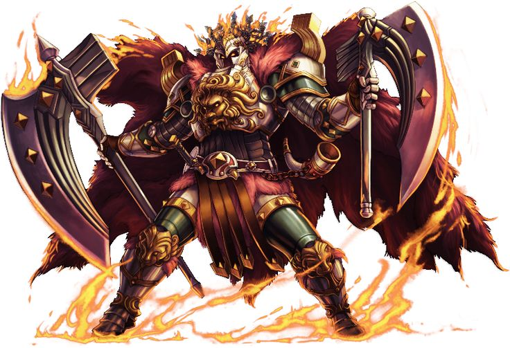 No.1059 熾焰神衛 ‧ 海姆達爾 Incinerating Guardian - Heimdallr #神魔之塔 #神魔_北歐遺族 (com imagens)   Dragões, Rpg, Monstros
