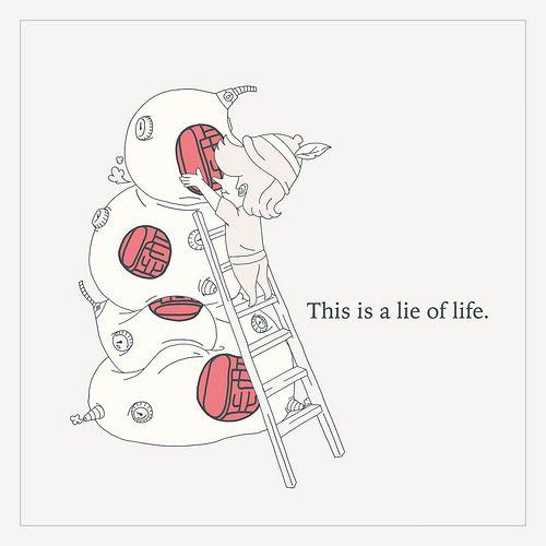 嘘 #illustration   #draw   #doodle