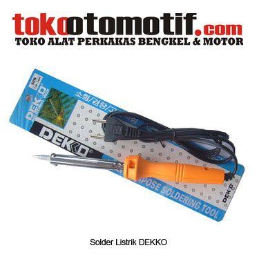 Kode : 68000000103 Nama : Soldering Iron Merk : DEKKO Tipe : 60W Status : Siap Berat Kirim : 1 kg