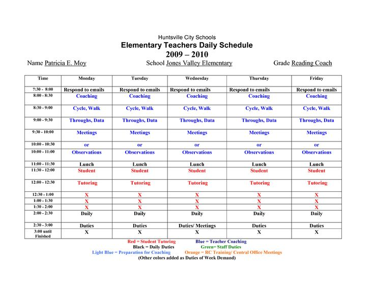 The  Best Class Schedule Template Ideas On   Weekly