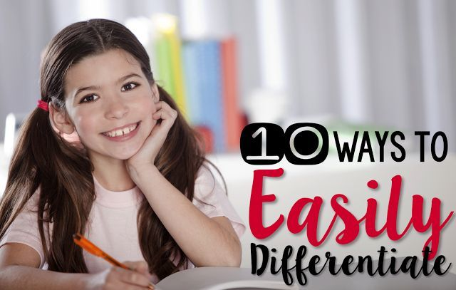 These ten ways to easily differentiate are simple to implement yet help all students work on at their own level!