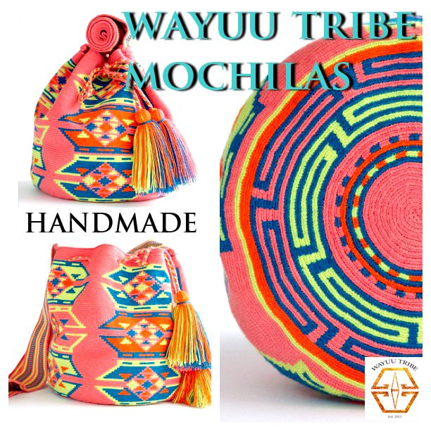 The tradition of weaving plays a significant role in Wayuu culture as it has been passed down from generation to generation for many years. Now, weaving has also become a means of financial support for the people, which enables them to preserve their way of life. Learn more at www.wayuutribe.com $260.00 #Mochila #Wayuu #Wayuutribe #shoulderbag @Natalie Jost Hughes