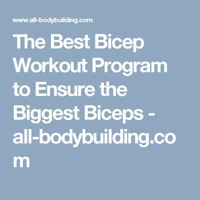 The Best Bicep Workout Program to Ensure the Biggest Biceps - all-bodybuilding.com