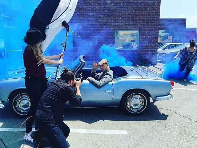Famous BTS Magazine pick. If you knew how many Arrested Development quotes came out of my mouth on the daily, you'd know I had way too much fun on set today with @mrtonyhale!  Thank you Tony being such a stud!  Via: @guerin_ad