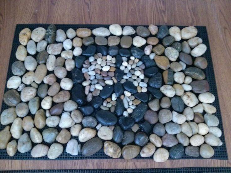 River rock door mat needs a few more smaller rocks but it for River stone doormat