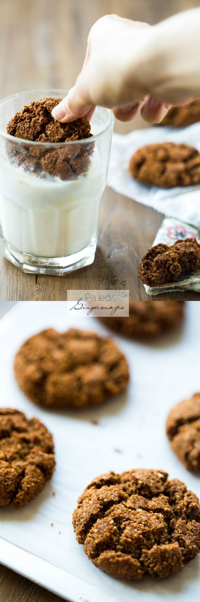 Paleo Gingersnaps - Completely butter free, gluten free and grain free, you will be amazed that these Christmas cookies taste better than Grandmas! Seriously, the best! |