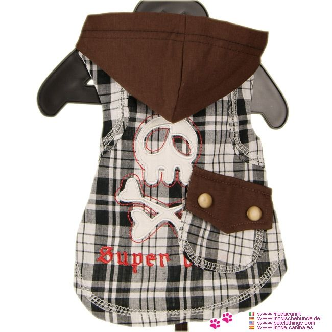 Camisa para Perros de Moda con Cráneo