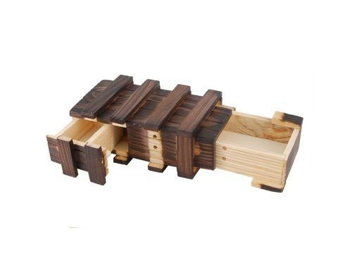 Godhl Magic Wooden Box With Extra Secure Secret Drawer