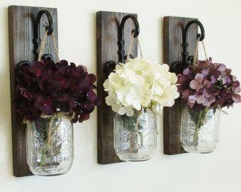 Simple Rustic Stained Mail and Key by cottagehomedecor on Etsy