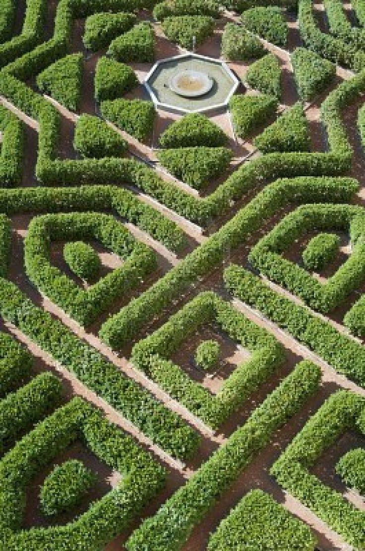 Vista aérea de un jardín en el Alcázar de Segovia, Castilla Leon, España Foto de archivo**