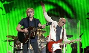 Who's the greatest rockstar in the world? The Who perform on the Pyramid stage at Glastonbury.