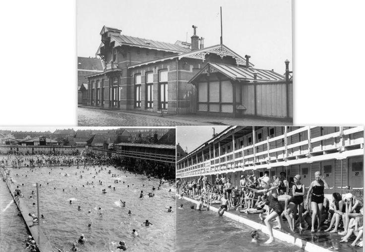 Kleine Badstraat nummer 8 met de gemeentelijke bad en zweminrichting in 1952. - Foto's SERC