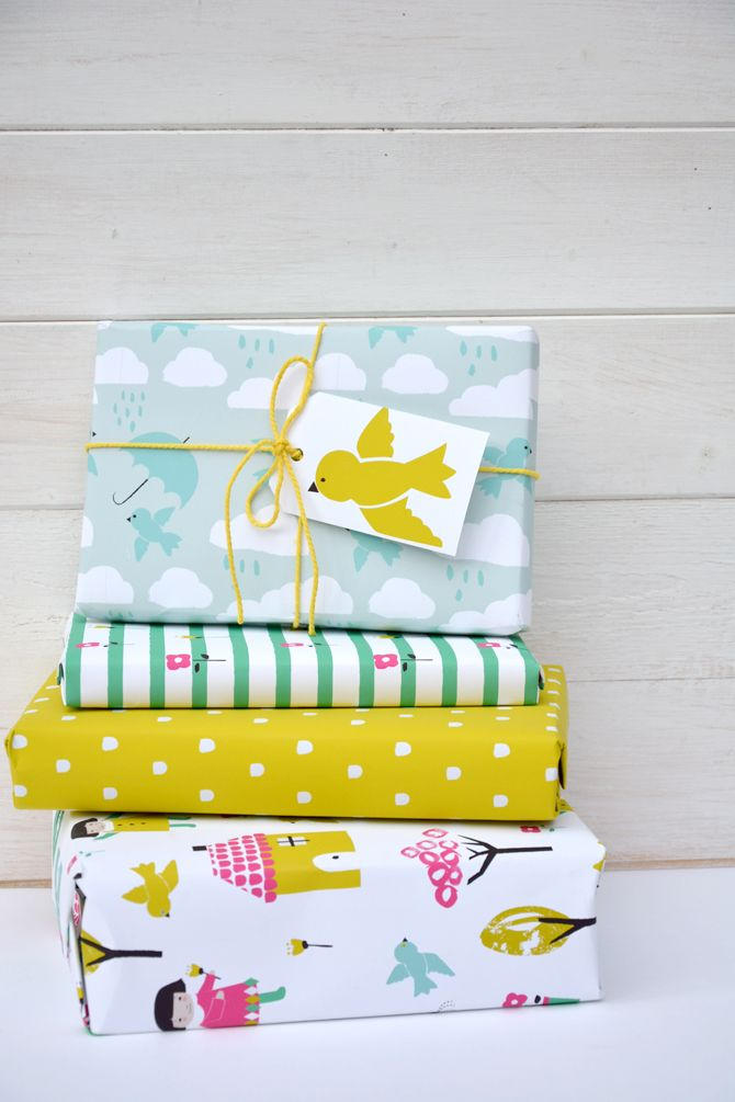 Rosehip Little Dolly Children's Cloud Gift wrap #gifttag #©iftwrap #illustration…