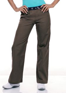 """9704 Work It Pant: Work it elastic flip pant with one back pocket. 65% polyester / 35% combed cotton poplin. XS-2XL (30.5"""" inseam)."""