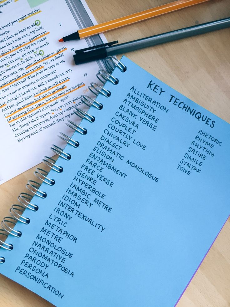 Revise or Die — I always have a key techniques list handy in some...