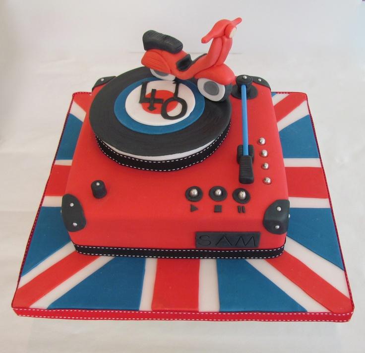 Mod cake www.littlecakecupboard.co.uk www.facebook.com/littlecakecupboard