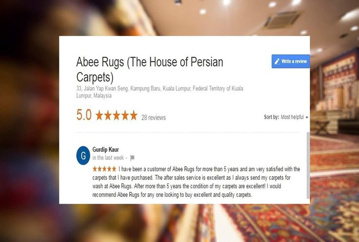 "#Testimonial from valuable #Customer  ""I have been a customer of #Abee #Rugs for more than 5 years and am very satisfied with the carpets that I have purchased. The after #sales #service is #excellent as I always send my carpets for wash at Abee Rugs. After more than 5 years the condition of my carpets are excellent! I would recommend Abee Rugs for any one looking to buy excellent and quality #carpets.""  ~ #Gurdip #Kaur ~"