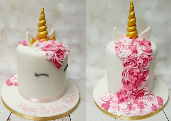fondant torte kindergeburtstag feiern einhorn motiv