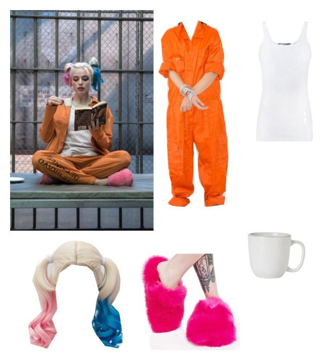 """Harley Quinn Prison Outfit"" by shadowhunter2017 on Polyvore featuring Lust For Life, Juliska and Vince"