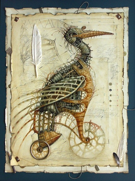 steampunk, bird
