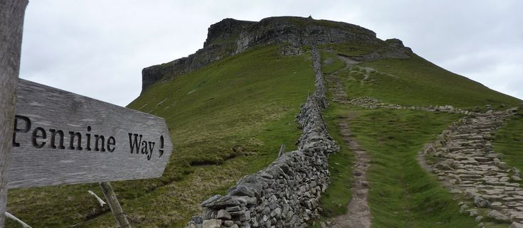 The ascent of Pen-y-ghent is steep, but short  What a slog this was with a heavy rucksack!