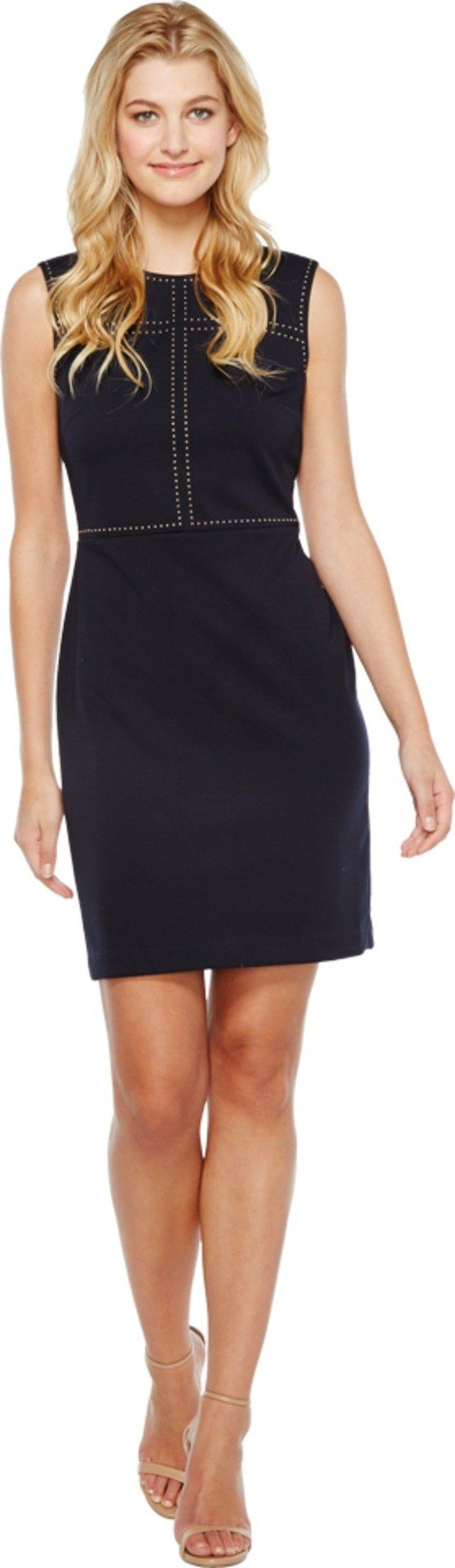 Ivanka Trump Women's Ponte Dress with Grommets Navy Dress